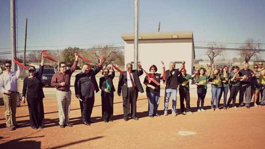 McCollum Softball Field Ribbon Cutting